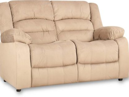 HomeTown Fabric 2 Seater Sofa  (Finish Color – Camel)