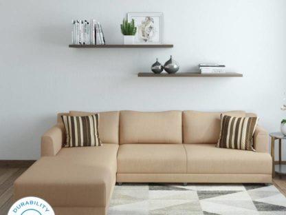 Marina Fabric 6 Seater Sofa  (Finish Color – Cream)
