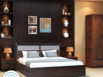 Wood Queen Drawer Bed